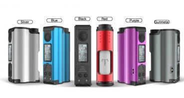 Topside Single 21700 Top Fill Squonker - Silver Silber